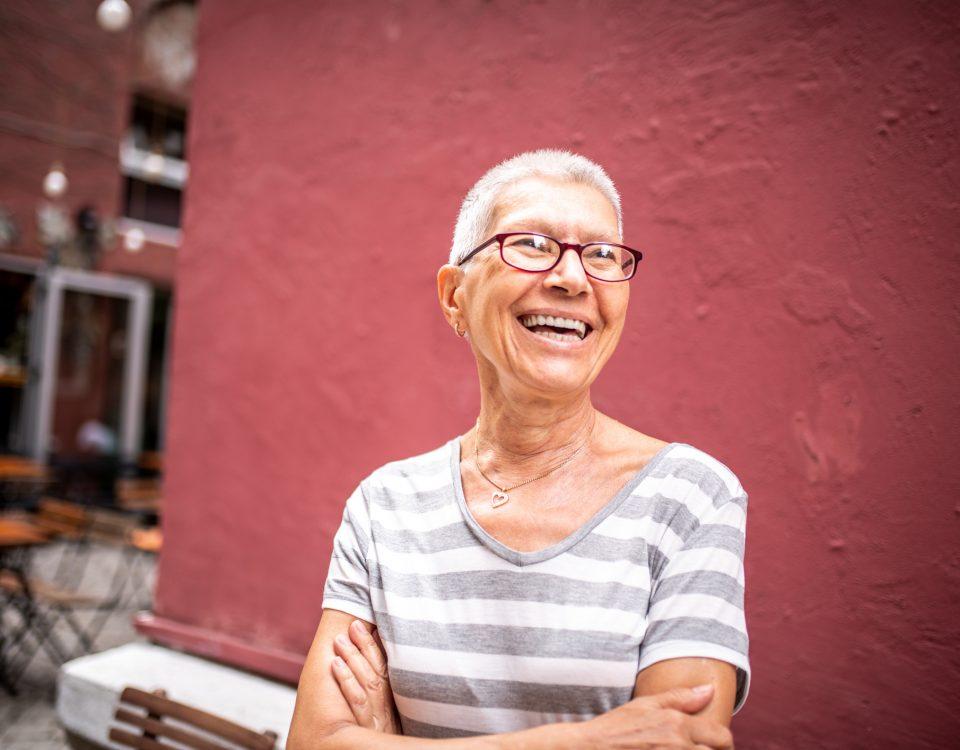 Woman showing longevity
